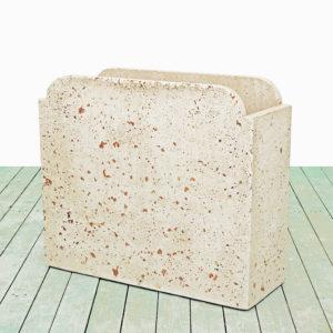 Vasi in cemento - Vaso rettangolare stondato