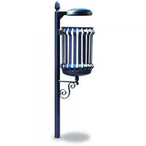 Cestini e cestoni in ferro - Art. 290bis - Cestino Barocco con coperchio