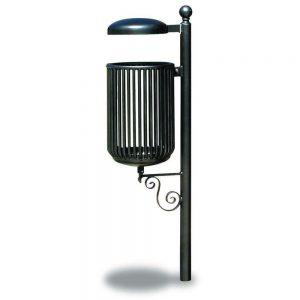 Cestini e cestoni in ferro - Art. 292bis - Cestino Liberty con coperchio