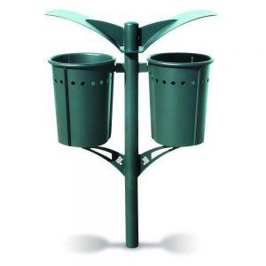 Cestini e cestoni in ferro - Art. 203D - Cestino doppio Pirro