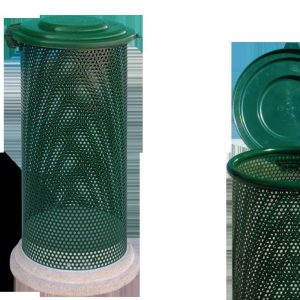 Cestini e cestoni in ferro - Art. 296bis - Cestone Eden con coperchio