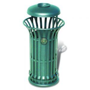 Cestini e cestoni in ferro - Art. 228bis - Cestone Mida con coperchio e posacenere