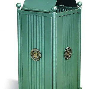 Cestini e cestoni in ferro - Art. 243bis - Cestone Sassari con coperchio