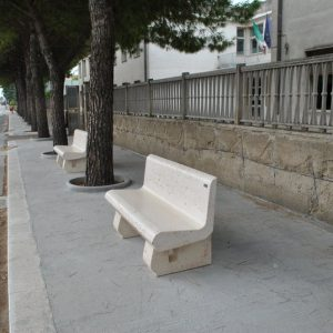 Square furnishing in Salento