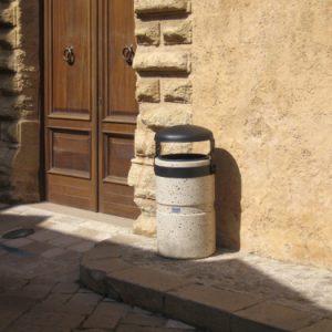 Cement waste bins - Round waste bin