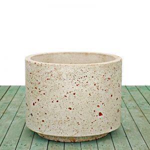 Cement vases - Cylindrical vase