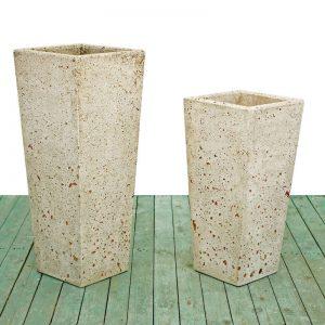 Cement vases - Square cone vase
