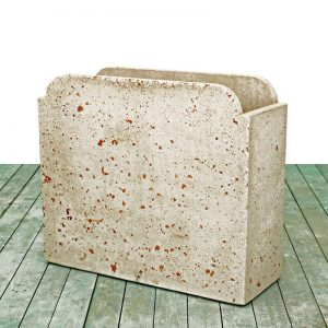 Cement vases - Rounded rectangular vase
