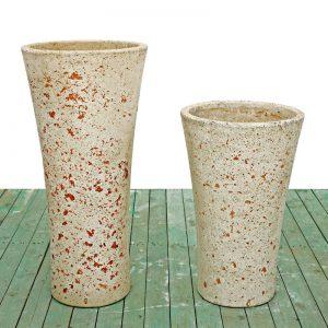 Cement vases - Round cone vase