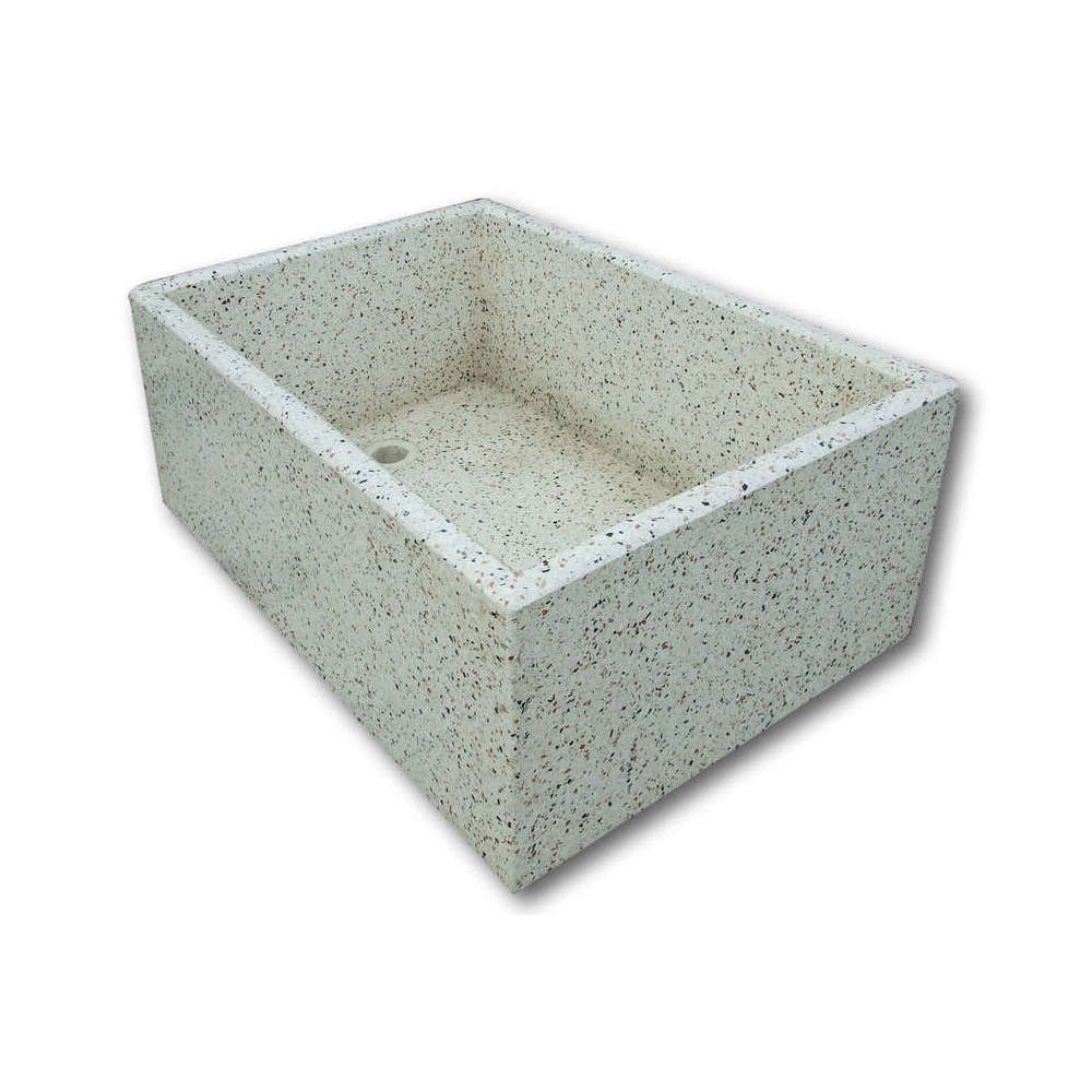 Realizzazione lavandino rettangolare in cemento
