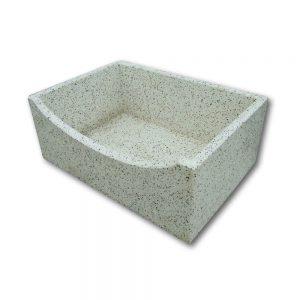 Pile e lavabi in cemento - Pila con ribassina