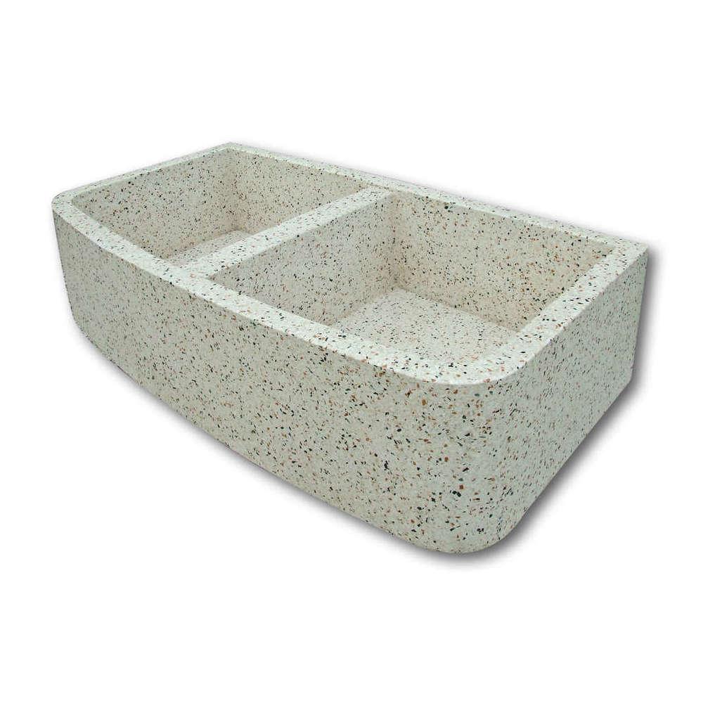 Produzione lavabo in cemento con doppia bocca