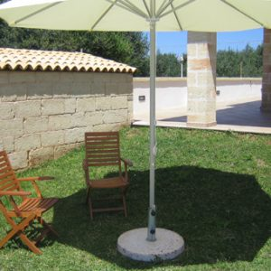 Complementi in cemento - Supporto per ombrellone